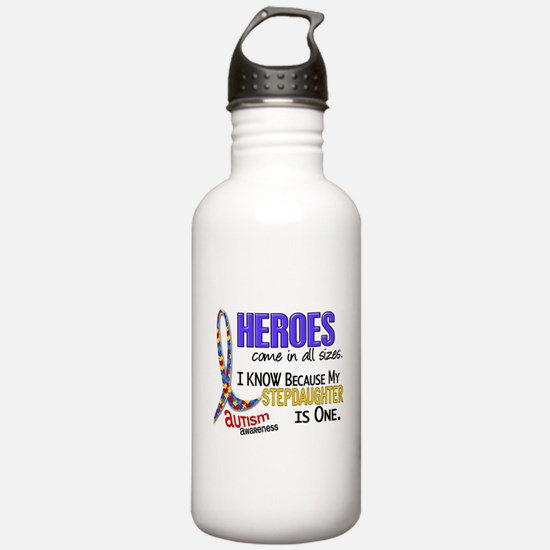 Heroes All Sizes Autism Water Bottle