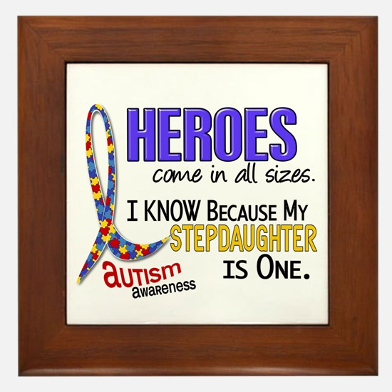 Heroes All Sizes Autism Framed Tile