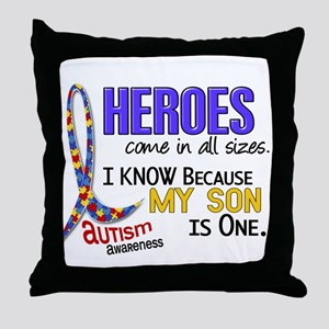 Heroes All Sizes Autism Throw Pillow