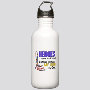 Heroes All Sizes Autism Stainless Water Bottle 1.0