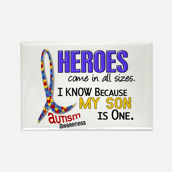 Heroes All Sizes Autism Rectangle Magnet