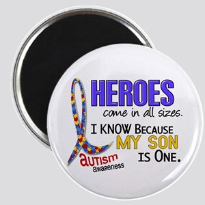 Heroes All Sizes Autism Magnet