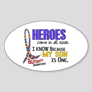 Heroes All Sizes Autism Sticker (Oval)
