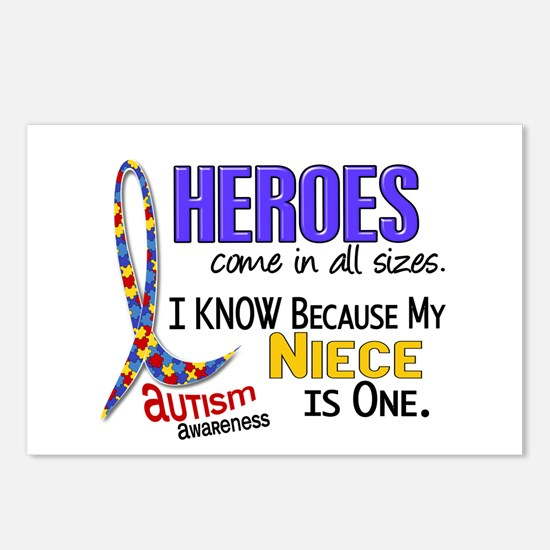 Heroes All Sizes Autism Postcards (Package of 8)