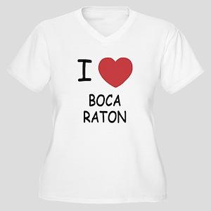 I heart boca raton Women's Plus Size V-Neck T-Shir