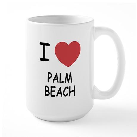 I heart palm beach Large Mug