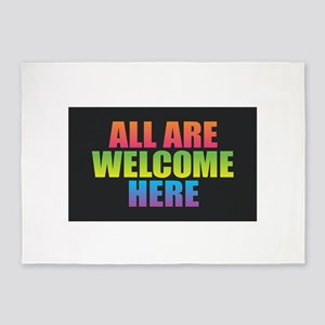 All Are Welcome Here 5'x7'Area Rug