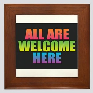 All Are Welcome Here Framed Tile
