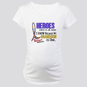 Heroes All Sizes Autism Maternity T-Shirt