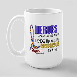 Heroes All Sizes Autism Large Mug