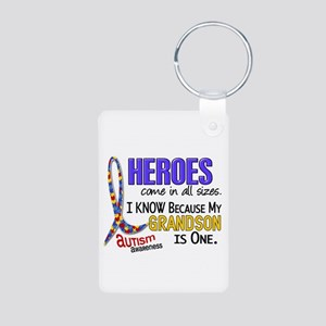 Heroes All Sizes Autism Aluminum Photo Keychain