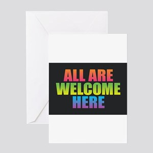 All Are Welcome Here Greeting Cards
