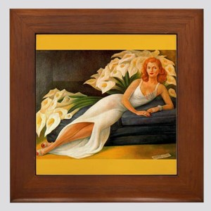 Diego Rivera Natasha Art Framed Tile