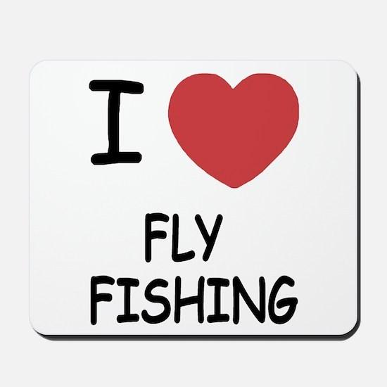 I heart fly fishing Mousepad