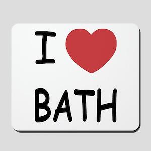 I heart bath Mousepad
