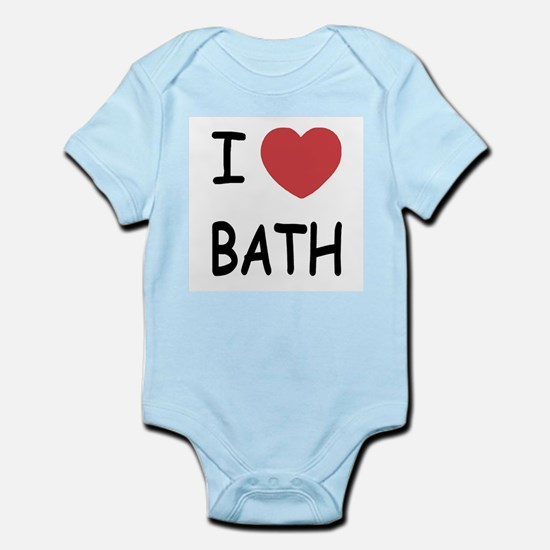 I heart bath Infant Bodysuit