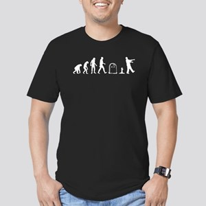 Zombie Evolution Men's Fitted T-Shirt (dark)