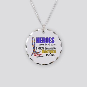 Heroes All Sizes Autism Necklace Circle Charm
