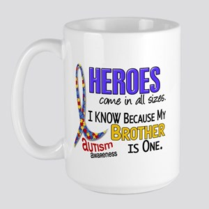 Heroes All Sizes Autism Large Mug