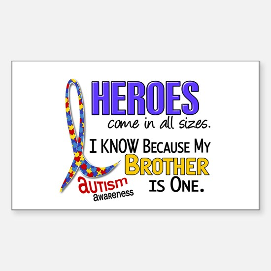 Heroes All Sizes Autism Sticker (Rectangle)