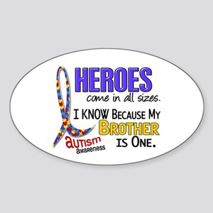 Heroes All Sizes Autism Sticker (Oval 10 pk)