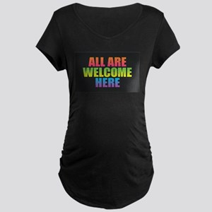 All Are Welcome Here Maternity T-Shirt