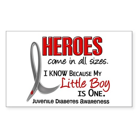 Heroes All Sizes Juv Diabetes Sticker (Rectangle)