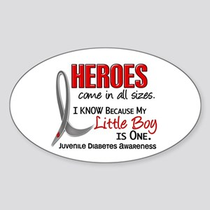 Heroes All Sizes Juv Diabetes Sticker (Oval)