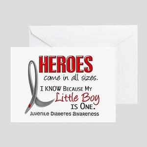 Juvenile diabetes greeting cards cafepress heroes all sizes juv diabetes greeting card m4hsunfo