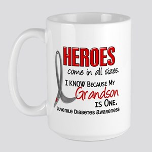 Heroes All Sizes Juv Diabetes Large Mug