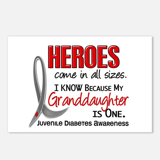Heroes All Sizes Juv Diabetes Postcards (Package o