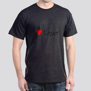 I Love Lager Dark T-Shirt