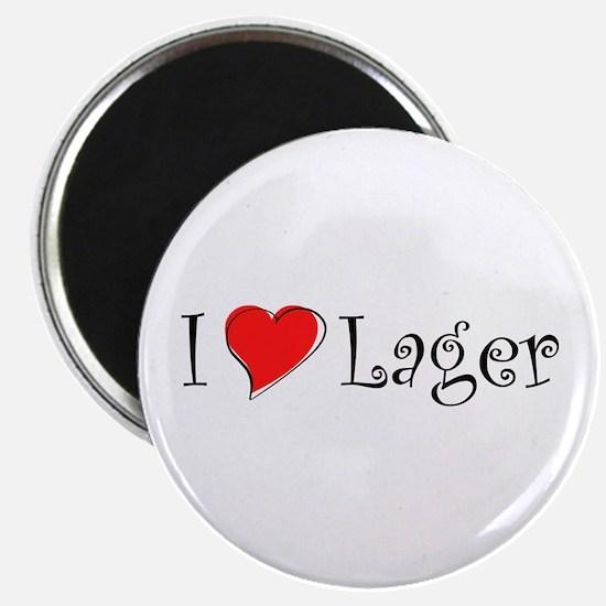 I Love Lager Magnet