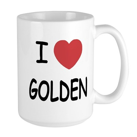 I heart golden Large Mug