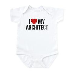 I Love My Architect Infant Bodysuit
