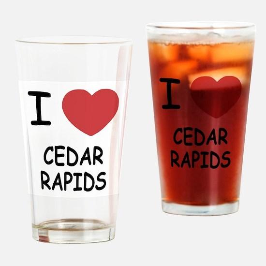 I heart cedar rapids Drinking Glass
