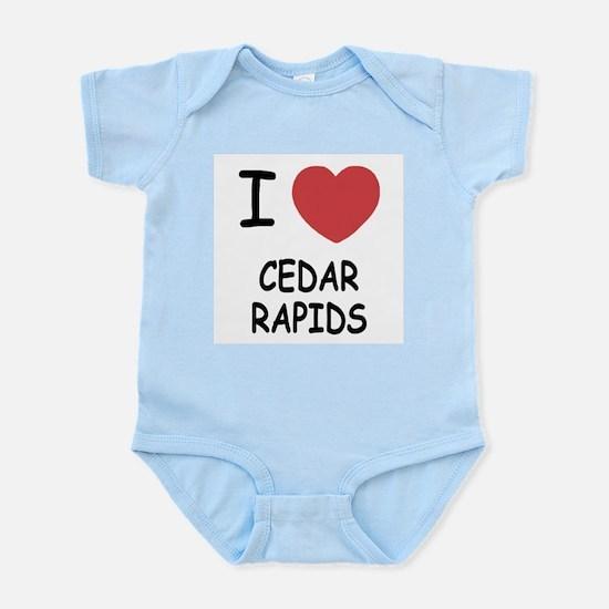 I heart cedar rapids Infant Bodysuit
