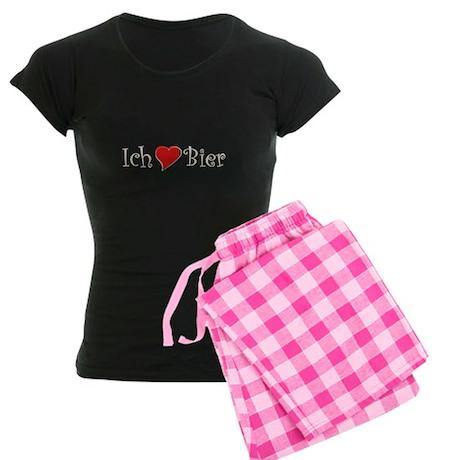 Ich liebe Bier Women's Dark Pajamas
