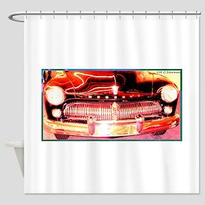 Mercury, Vintage, Auto, Shower Curtain