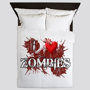 I Heart Zombies Queen Duvet