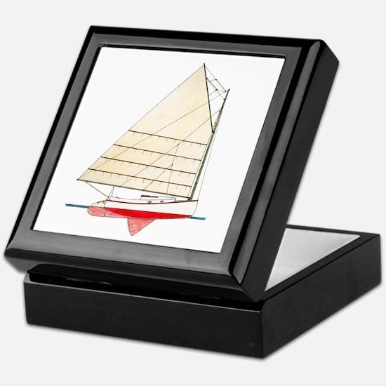 Cape Cod Catboat Keepsake Box