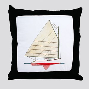 Cape Cod Catboat Throw Pillow