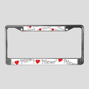 I Love Pilsner License Plate Frame