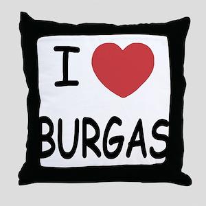 I heart burgas Throw Pillow