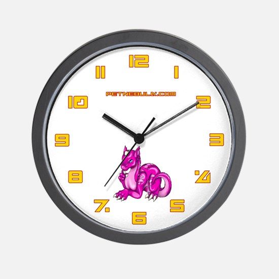 Pink Dragold Wall Clock