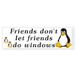Friends don't let friends - Sticker (Bumper 50 pk)