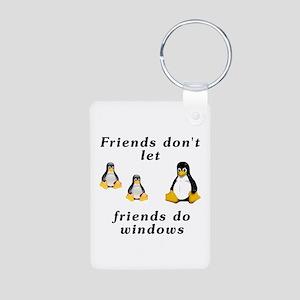 Friends don't let friends - Aluminum Photo Keychai