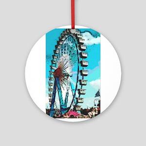 Big Ferris Wheel Ornament (Round)