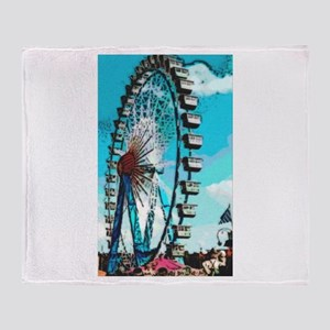 Big Ferris Wheel Throw Blanket