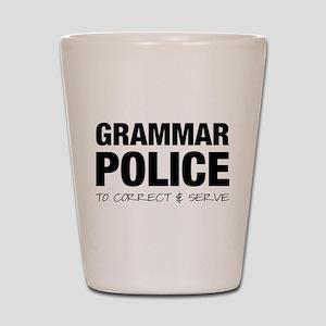 Grammar Police Shot Glass